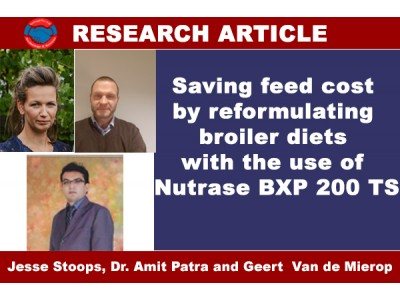 Saving feed cost by reformulating broiler diets with the use of Nutrase BXP 200 TS